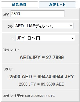 AEDから日本円