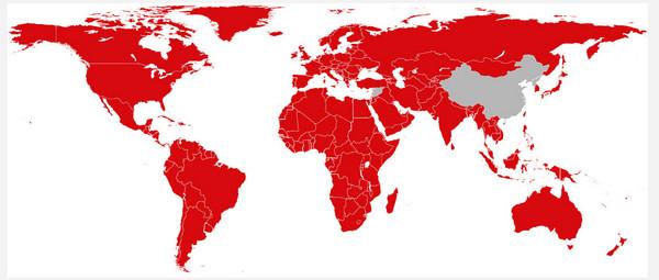 Netflixが視聴可能な国・地域の一覧