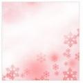 ピンクの雪結晶 文字なし