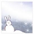 兎の雪だるま 文字なし