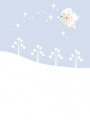 冬の挨拶状 冬の妖精
