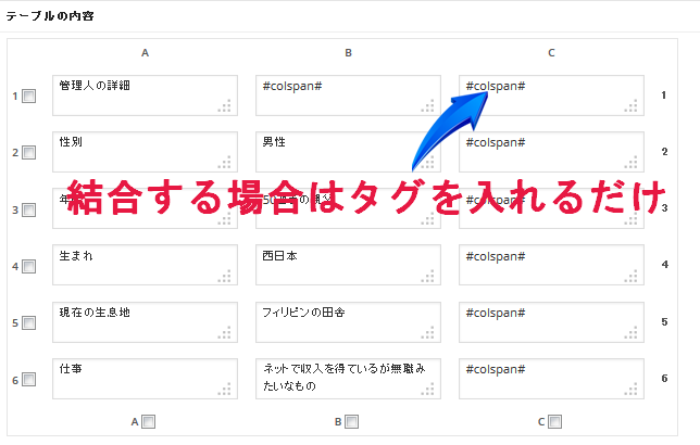 WP-Table Reloadedテーブル