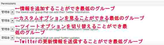 WP to Twitter 権限