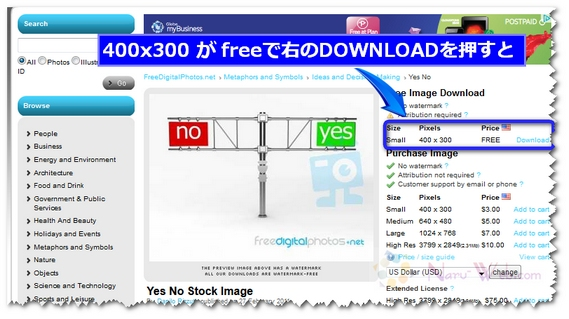 freedigitalphotos.net 画像チェック画面