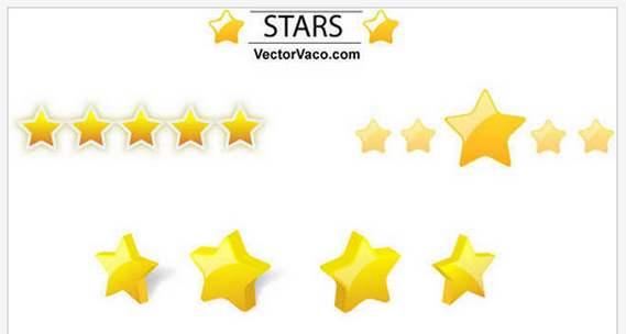 6種の星のベクターデータセット