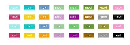 アイコン素材 - New・Up素材 - フリー素材「blue-green」
