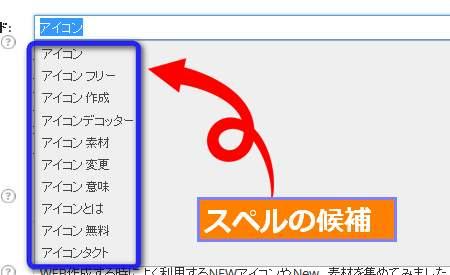 WordPress SEO by Yoast キーワード候補
