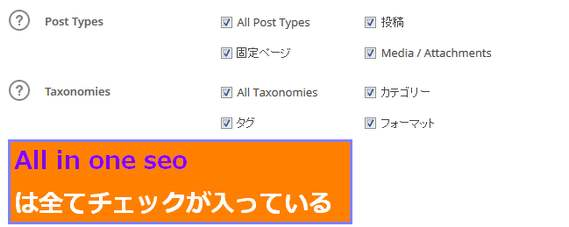 All in one seoのXML標準設定