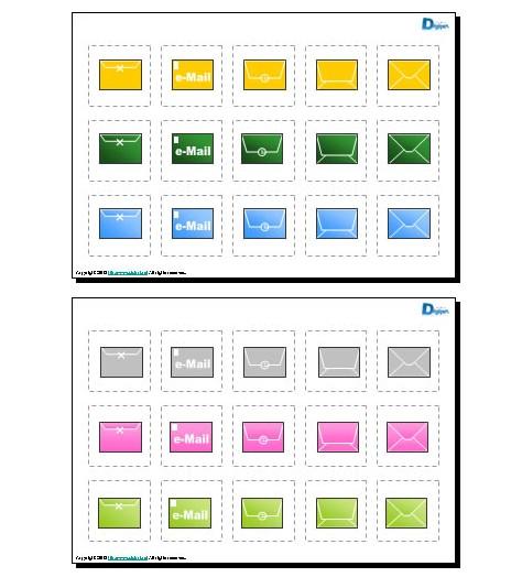 eメール(パワーポイント)|パワーポイント、ビジネスフリー素材 Digipot
