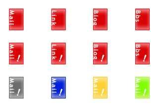 HP素材ボタン箱 - HP素材 ボタン -