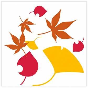 イショウ・モミジなど落ち葉のイラスト素材 | 花と植物のイラストが無料 | 商用利用可能フリー素材