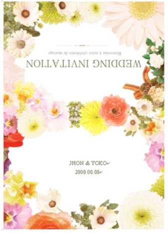 結婚式招待状・ウェルカムボード・ペーパーアイテムのテンプレートと無料素材ダウンロード | Mikiseabo -ミキシーボ-