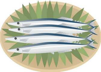 秋刀魚 / サンマ - GATAG|フリーイラスト素材集