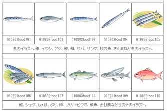 魚(サカナ)のイラスト イラスト素材の素材ダス