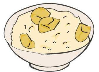 01-栗ご飯のクリップアート|食べ物フリーイラスト配布中