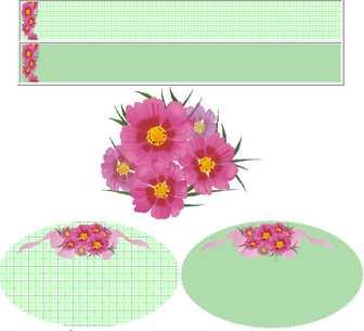 秋桜(コスモス)/季節の花/秋/イラスト・壁紙・バナー/HP用フリー素材/Humming Cat♪はみんぐ きゃっと♪