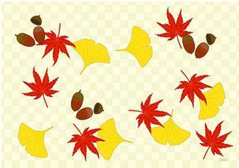 秋の葉 壁紙フリーのイラスト素材|dakImage(ダックイメージ)