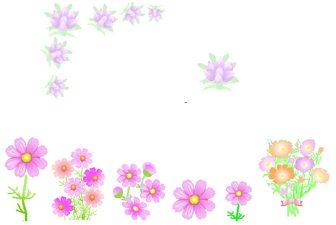 秋の花イラスト背景素材フリー無料画像絵 9月10月11月