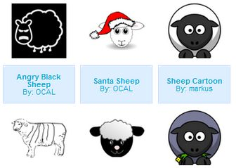Sheep - vector clip art online, royalty free & public domainSheep - vector clip art online, royalty free & public domain