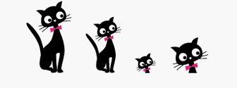 どうぶつイラスト素材 / 黒猫 無料イラスト素材