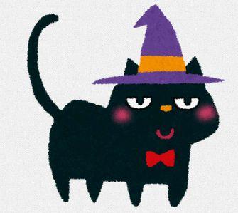 ハロウィンのイラスト「黒猫」: 無料イラスト かわいいフリー素材集