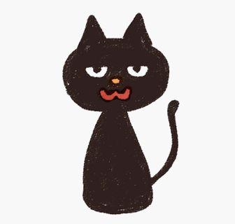 黒猫のイラスト: ゆるかわいい無料イラスト素材集