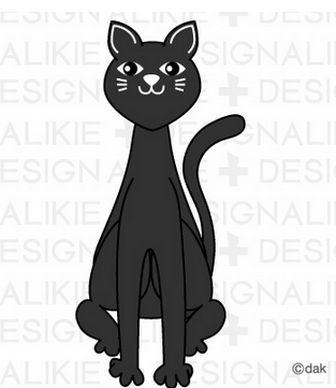 黒猫イラスト フリーのイラスト素材 dakImage(ダックイメージ)