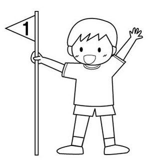 運動会のイラスト(白黒・一等賞) — POP・イラスト素材 無料ダウンロード