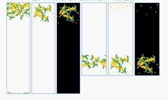 秋の花・金木犀(キンモクセイ)-イラスト・背景(HP用フリー素材)