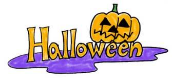 手書きのハロウィンロゴ★お化けかぼちゃhalloween   商用利用もできる無料イラスト素材集サイト