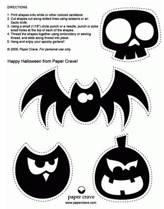 Paper Crave Halloween Freebies : Halloween Garland Two Ways | Paper Crave