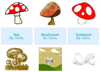 Mushroom - vector clip art online, royalty free & public domain