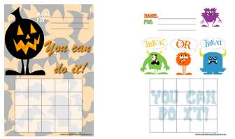 Free printable Halloween sticker charts, Halloween stamp sheets and Halloween printables