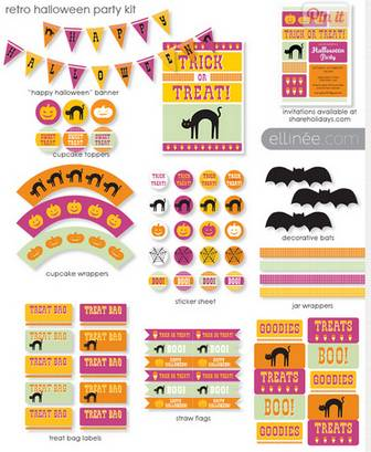 DIY Kids Halloween Party Kit | The Elli Blog