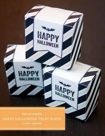 Free Printable Halloween Treat / Candy Boxes