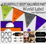ハロウィンのラベル・ステッカー・バッジ・シール・包装紙 フリー素材のイラスト・画像集めてみた!アイキャッチ