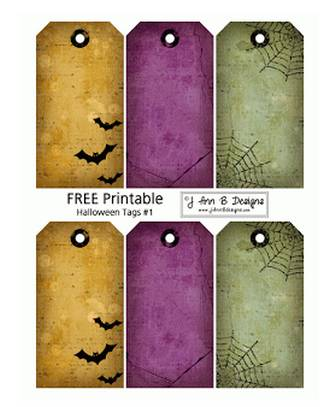 J Ann B Designs: Halloween Tags 1 - FREE Printable