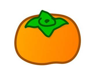 秋のイラスト-かき:秋のそざい:キッズ@nifty