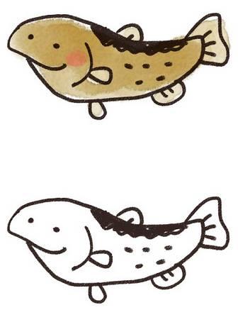 鮭のイラスト: ゆるかわいい無料イラスト素材集