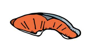 鮭(切り身)の無料イラスト   かわいいイラストならイラストレイン