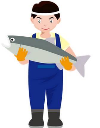 漁業22-鮭 -仕事の無料イラスト素材-イラストポップ