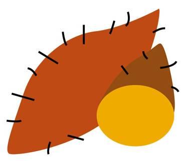 秋のイラスト-やきいも:秋のそざい:キッズ@nifty
