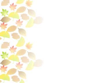 紅葉、もみじ、落葉、みのむし-秋のイラスト&背景 フリー素材