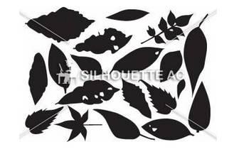 落ち葉|無料イラスト ・イラスト素材「シルエットAC」