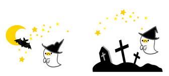 ハロウィンのイラスト・秋の無料イラスト