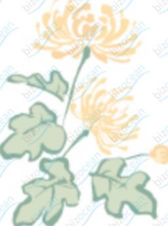 管物菊の喪中イラスト(カラー)|テンプレートの無料ダウンロードは【書式の王様】