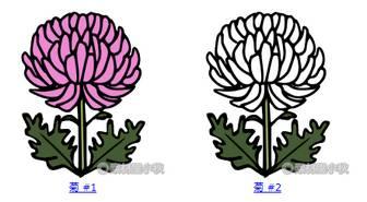 素材屋小秋: 菊の無料イラスト・フリー素材