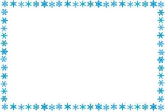 いろいろな冬のイメージのフレーム: 無料イラスト かわいいフリー素材集