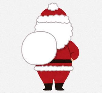 サンタクロースのイラスト(全身・後ろ姿): 無料イラスト かわいいフリー素材集