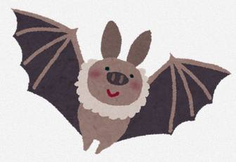 飛んでいるコウモリのイラスト: 無料イラスト かわいいフリー素材集